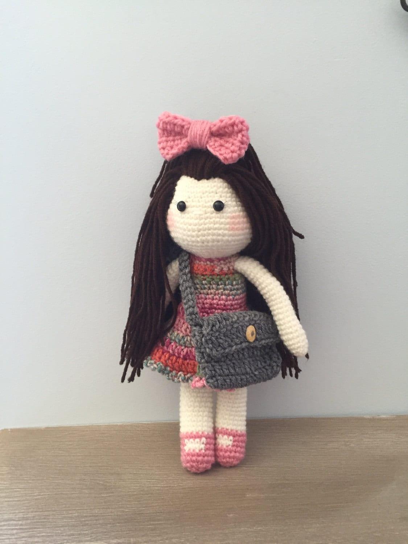Amigurumi Doll : Crochet doll amigurumi doll crocheted doll toy handmade