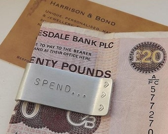 Big Spender Money Clip,Personalised Aluminium Money Clip,Hand-Stamped Money Clip,Valentine's Day,Fathers Day,Men's Gift,Customised Gift