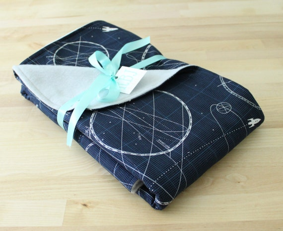 Outer space navy baby blanket by rbjbaby on etsy for Outer space fleece