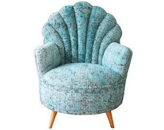 Custom Armchair, Turquoise, vintage, Upholstered Furniture, Chair, Sofa, Boho, Modern, Handmade