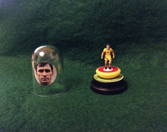 Gheorghe Hagi (Romania) - Hand-painted Subbuteo figure housed in plastic dome.