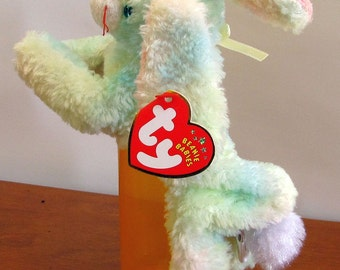 Small Tie Dye Rabbit Puppet
