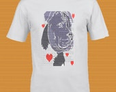 Staffie T- shirt with Hearts and description, Staffordshire Terrier T-Shirt Stunning