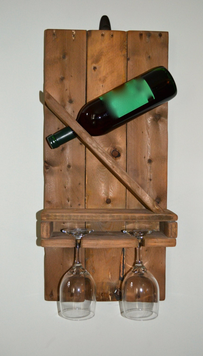 Pallet Wine Rack And Glass Holder By Thereclaimednyer On Etsy