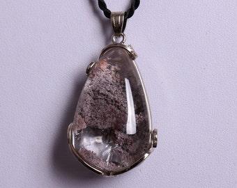 Ghost crystal Pendant ,Quartz gemstone pendants, Rock quartz necklaces phantom ghost quartz jewelry stone 598