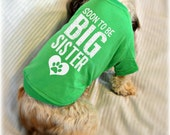 Soon to Be Big Sister Dog Shirt. Small Pet Clothes. Gift for Expecting Mother. Custom Dog T-Shirts.