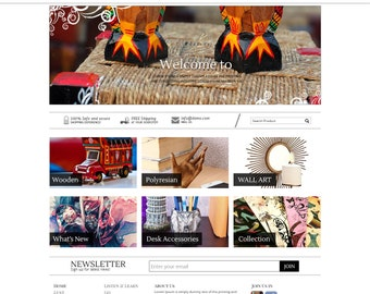 Hand Crafts Portfolio Template, Handcrafts Portfolio Website, WordPress Website Design, Portfolio Template, Handcrafts Website, Web Design