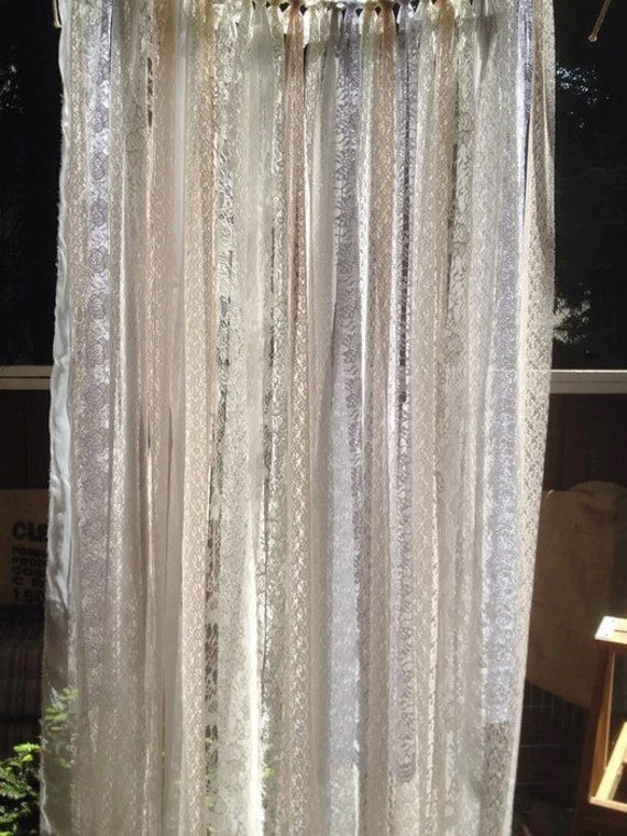 WhiTe WeDDing BaCkdRop WeDDinG IdeAs Bohemian Curtain GARLAND