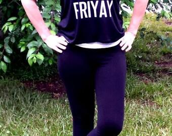 Friyay T-Shirt Friyay Womens Tank Top Shirt Ladies Flowy Tank Top Funny Shirts