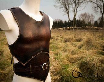 "Medieval fantasy leather armor "" Gladiator """