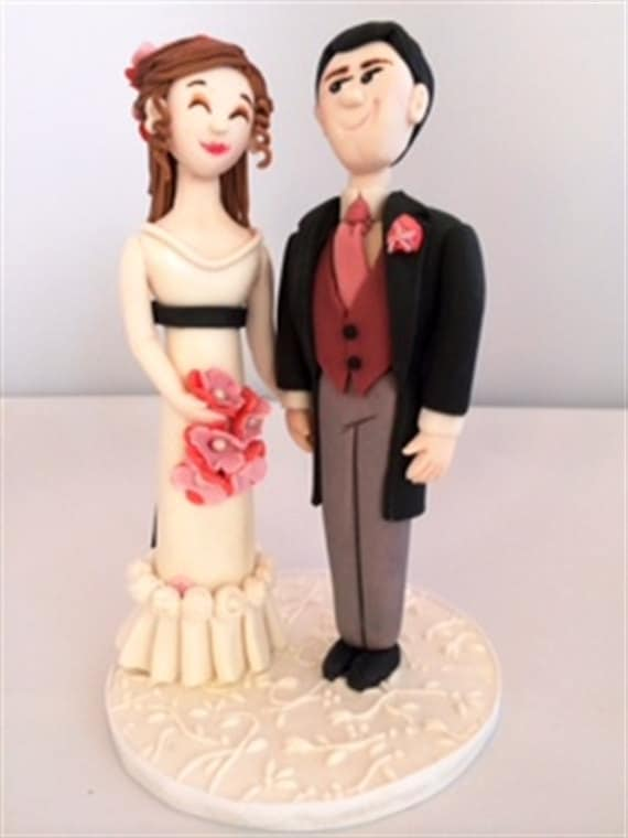 Fondant Bride And Groom Cake Topper Tutorial