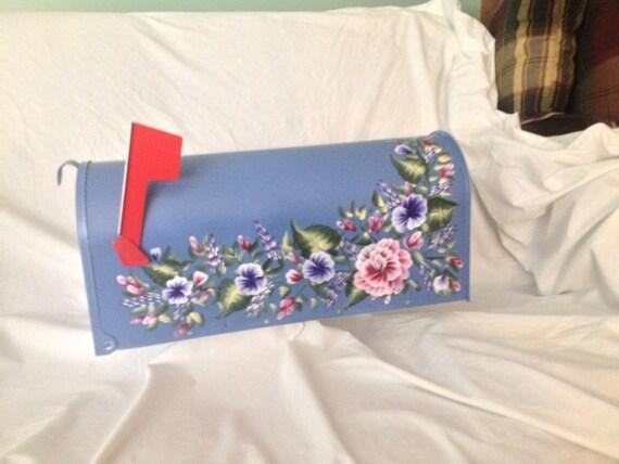 Bo te aux lettres en m tal peinte peinture acrylique - Boite de peinture acrylique ...