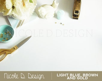 Light Blue Brown and Gold - Stock Photography