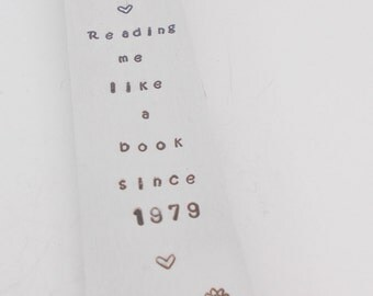 Personalised bookmark, with cut out heart