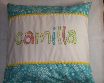 Applique Name Pillowcase with Ribbon