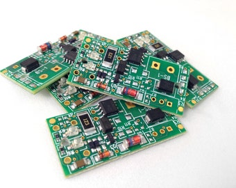 FOUR Loose Circuit Boards with Components, Pre-drilled and ready to be used on jewelry and other crafts