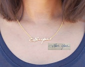 FLASH SALE  20% OFF Handwriting Necklace - Signature Necklace - Memorial Signature Necklace - Personalized Necklace - Bridesmaid Gift