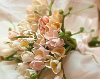 "Wedding Bouquet ""Freesia"" - Weddings Flower Bouquets - Bridal Bouquets - Bouquet of Flowers - Flower Bouquets"