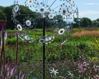 Individually created Garden sculptures inspired by seed heads, alliums and dandelions.
