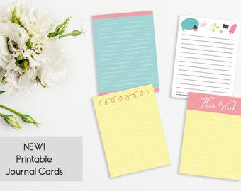 4 Printable Journal Cards - Hello Spring! Set II