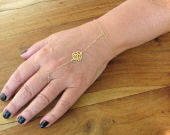 Slave bracelet, gold bracelet,14k gold filled, filigree bracelet, vintage bracelet, disc bracelet, tiny bracelet