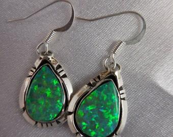Opal Sterling Earrings