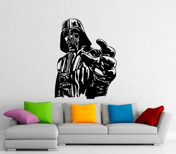 darth vader wall decal vinyl stickers star wars home interior star wars wall stickers