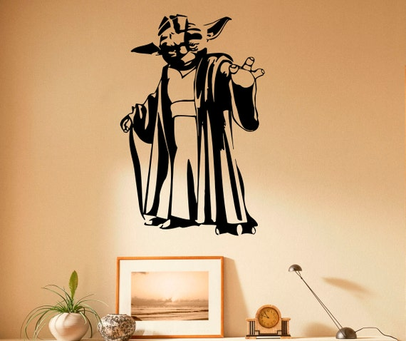Ma tre yoda wall decal vinyle autocollants star wars home - Pochoir star wars ...