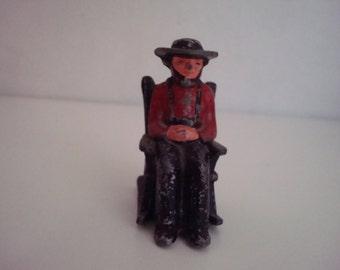 Cast Iron Amish Man in Rocker Salt/Pepper Shaker