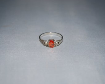 Sterling silver Citrine ring size 5.75