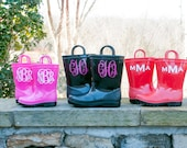 Monogrammed Toddler Rain boots - Monogrammed Children Rain boots - Available in boy and girl colors/fonts!