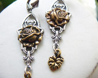 "Silver plated brass earrings ""Victoria"""