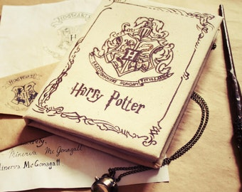 "Harry Potter Notebook with ""Hogwarts"" letter"