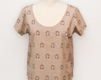 Summer Blouse Organic Cotton Printed T Shirt