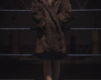 1970's Authentic Real Brown Fur Coat