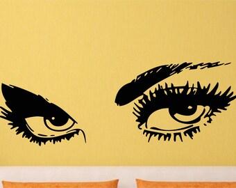 Audrey Hepburn Eyes Wall Art Inspiring Sticker Decal for Home 600mm