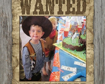 Wanted Poster - Cowboys and Indians Theme - Customized Digital File
