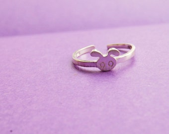 Ring——925 Sterling Silver Cute Rabbit Ring,Lovely Rabbit Adjustable Ring,simple sterling silver ring, Silver Rabbit ring, Rabbit jewelry