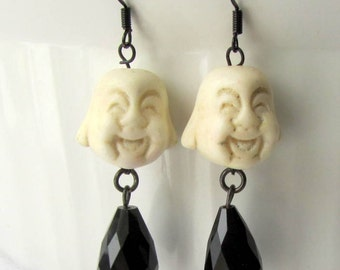 Smiling Buddha Drop Earrings