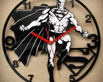 Vinyl wall clock - Superman vintage