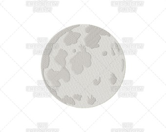 3 Sizes - Moon Lunar Nature Sky Machine Embroidery Pattern Design