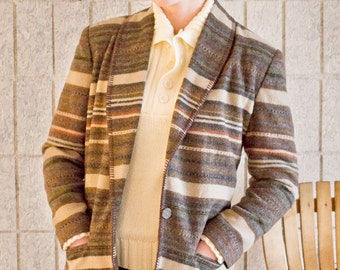 "90's ""Blanket"" Blazer / Coat"
