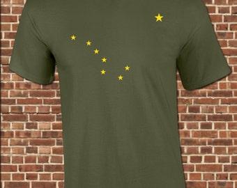 ALASKA mens T-Shirt all sizes available state flag alaskan stars big dipper north star city rocky mountains vintage tee UG594