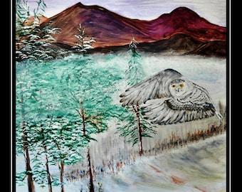 Snowy Owl's First Flight