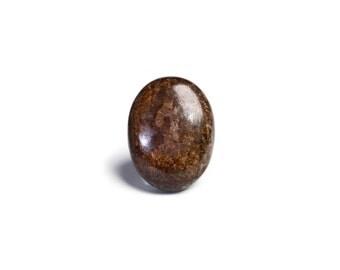 28x21.5mm Bronzite Cabochon - Bronzite Stone Cabochon, Wholesale Gemstone Cabochon, Brown Gemstone Cabs, Oval Cabochon