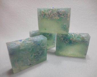 A Day At The Beach SOAP LOAF - Handmade Soap - Beach Gift - Moisturizing Glycerin Soap - Tropical Soap - Homemade Bulk Soap - Ocean Soap
