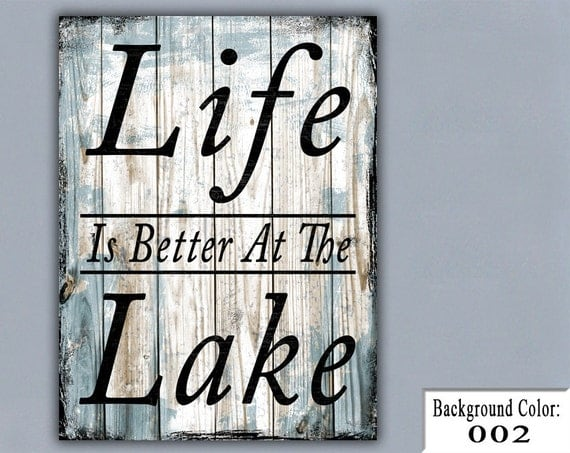 Items similar to LAKE Handmade Sign Wooden Sign Wood