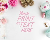 Print Background / Styled Stock Photography / Product Photography / Staged Photography / Product Background / Desktop / Pink / Cute / DGR002