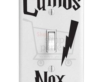 Harry Potter Light Switch Decals,  Lumos Nox Light Switch Decals