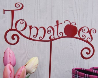 metal art - Tomato garden sign - garden decoration
